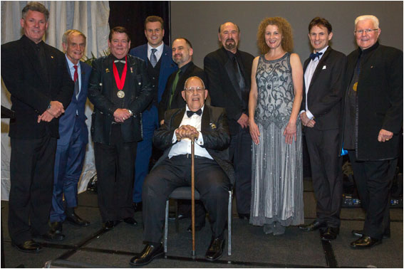 Members of the Brotherhood of Auckland Magicians Inc (BAM) at the Variety Artists Club of New Zealand Awards 2017